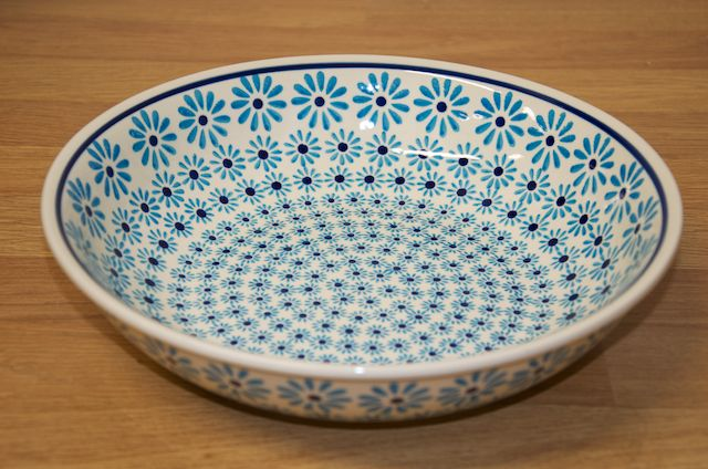 Serving Bowl Turquoise Daisy