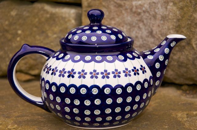 Polish Pottery Special Dark Spot Teapot