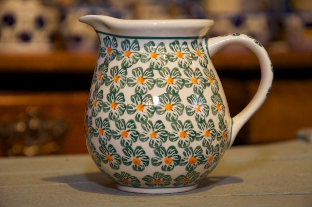 Polish Pottery Vintage Meadow Small Jug