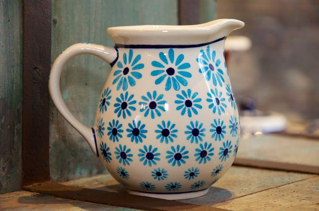 Turquoise Daisy Small Jug