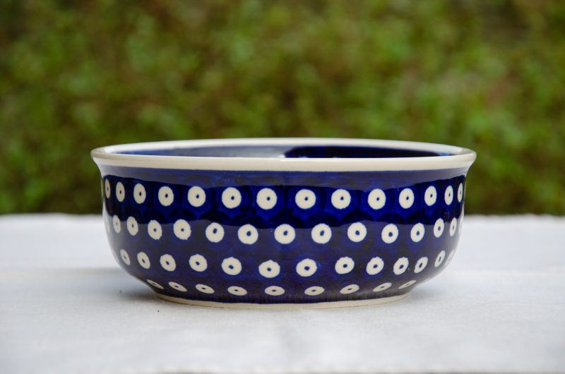 Dark Blue Spotty Pattern Soup Bowl