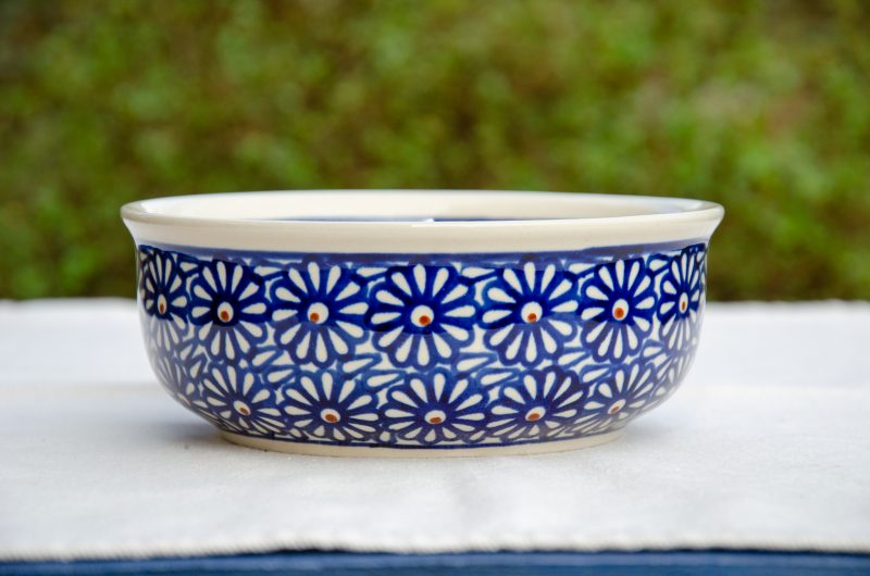 Large Blue Daisy Soup Bowl