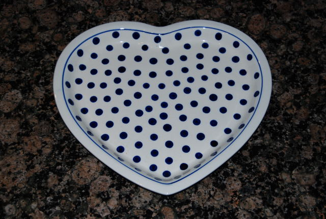 Heart shaped plate 37