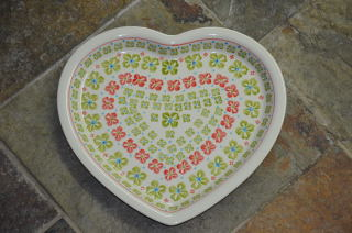 Heart Shaped Plate 978