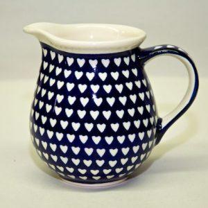 Polish Pottery Small Hearts Pattern Small Jug