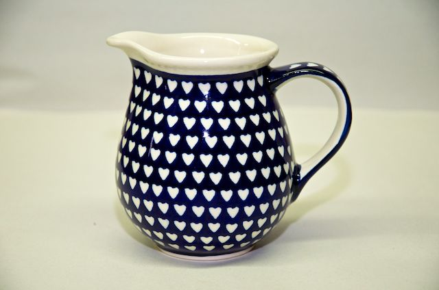 Polish Pottery Small Hearts Pattern Small Jug