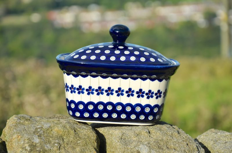 Polish Pottery Special Dark Spot Butter Box