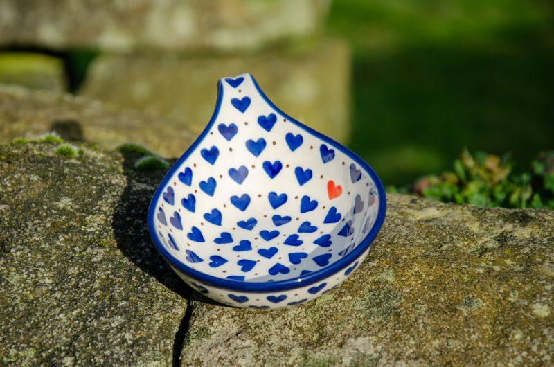Small Heart Nibble Dish by Ceramika Artystyczna