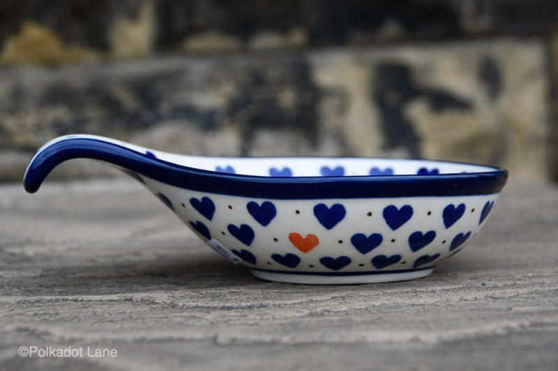 Small Hearts Nibble Dish by Ceramika Artystyczna