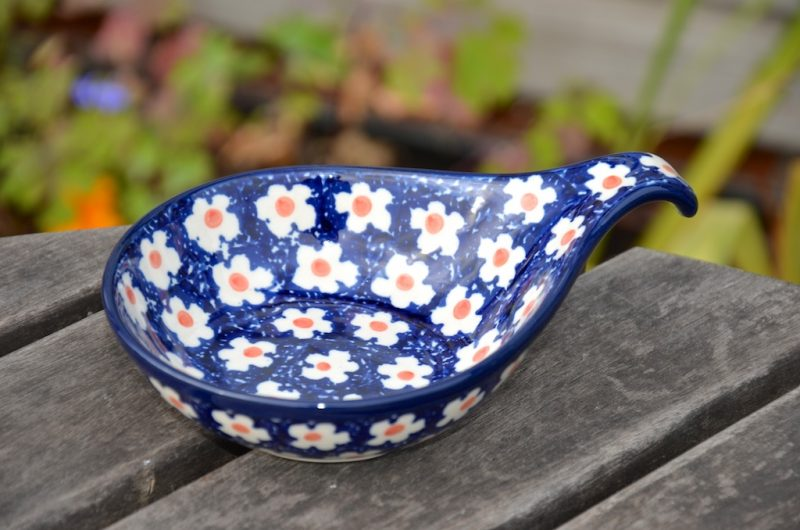 Orange Flower Spot Nibble Dish