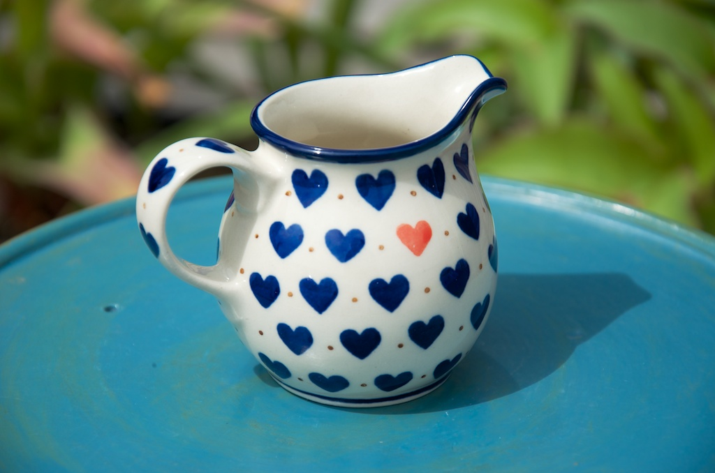 Polish Pottery Small Hearts Creamer