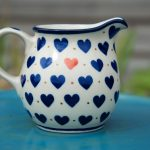 Small Hearts Small Creamer by Ceramika Artystyczna