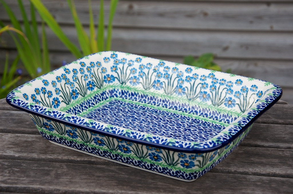 Forget Me Not Large Oven Dish from Polkadot Lane UK