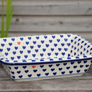 Polish Pottery Small Heart Oven Dish