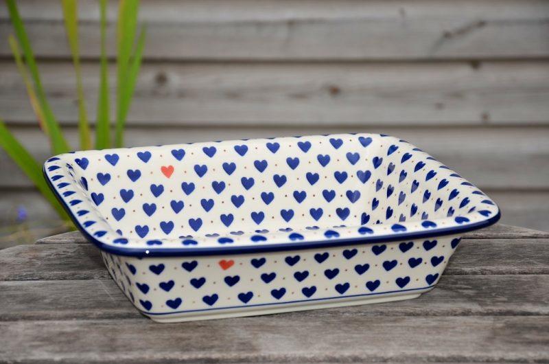 Polish Pottery Small Heart Oven Dish