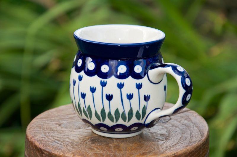 Polish Pottery Flower Spot Round Mug