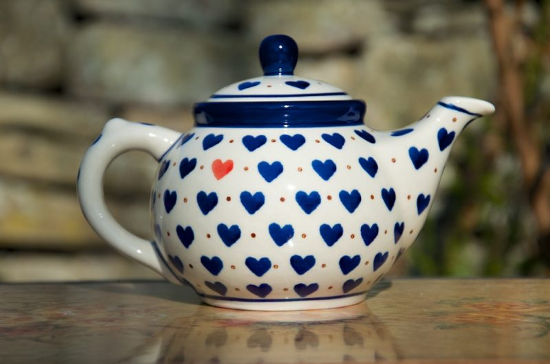 Polish Pottery Small Hearts Small Teapot
