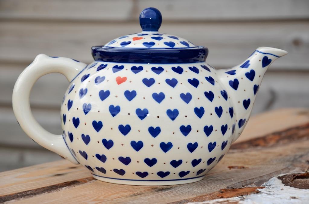Polish Pottery Small Heart Teapot