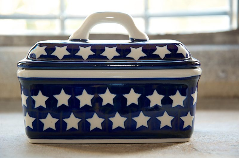Polish Pottery Star Butter Box