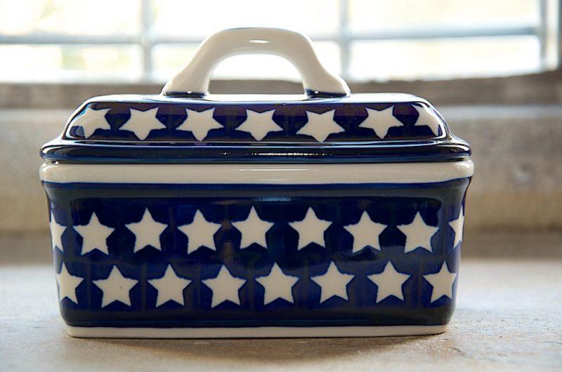 Polish Pottery Star Butter Box