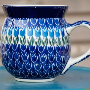 Polish Pottery Tulip Field Large Round Mug