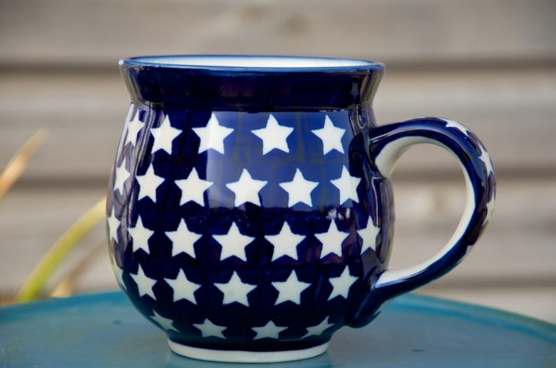 Polish Pottery Star Large Round Mug