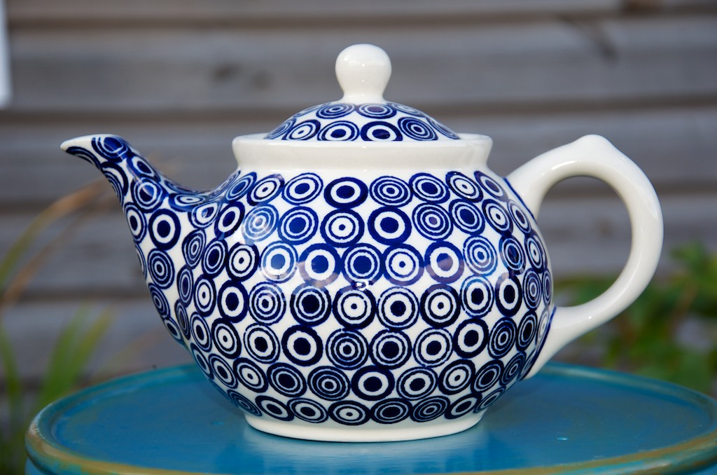 Polish Pottery Circle Spot Teapot