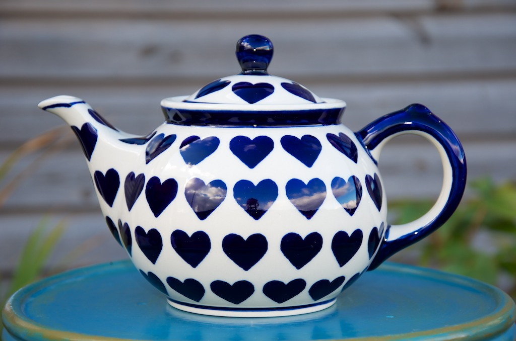 Polish Pottery Large Heart Teapot