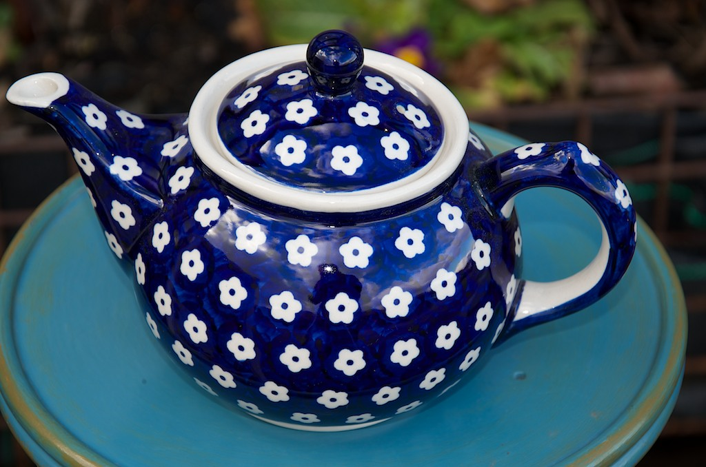 Polish Pottery Small Flower Teapot
