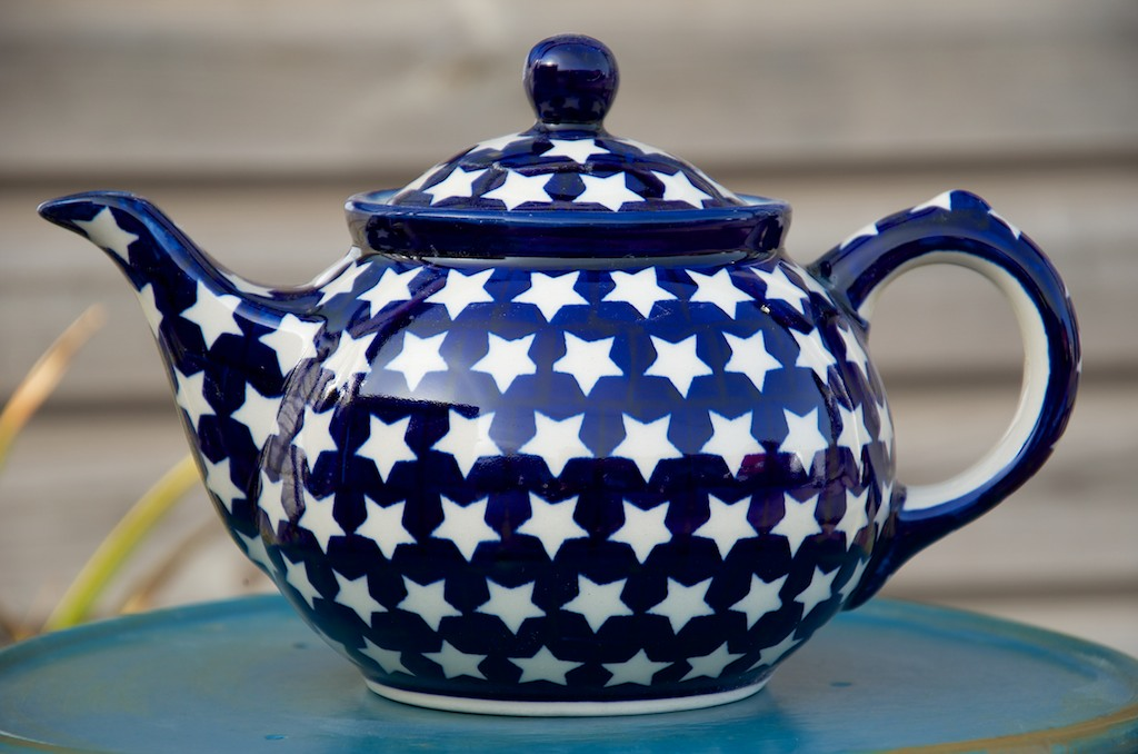Polish Pottery Star Teapot