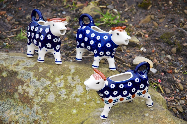 Cow Shaped Milk Jugs
