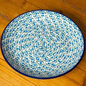 Polish Pottery Blueberry Leaf Dinner Plates set of 6