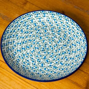 Polish Pottery Blueberry Leaf Dinner plate