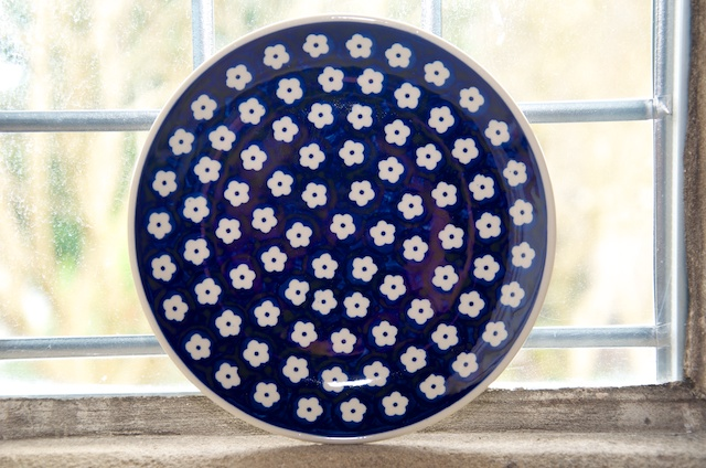 Polish Pottery Flower Spot Side Plate