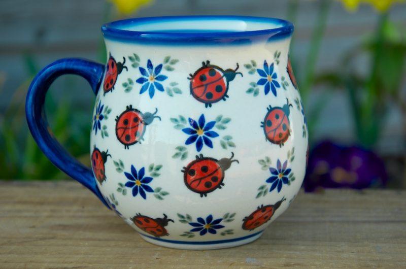 Polish Pottery Ladybird Large Round Mug
