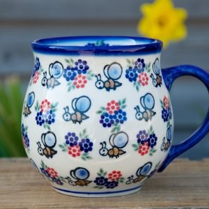 Polish Pottery Bee Large Round Mug