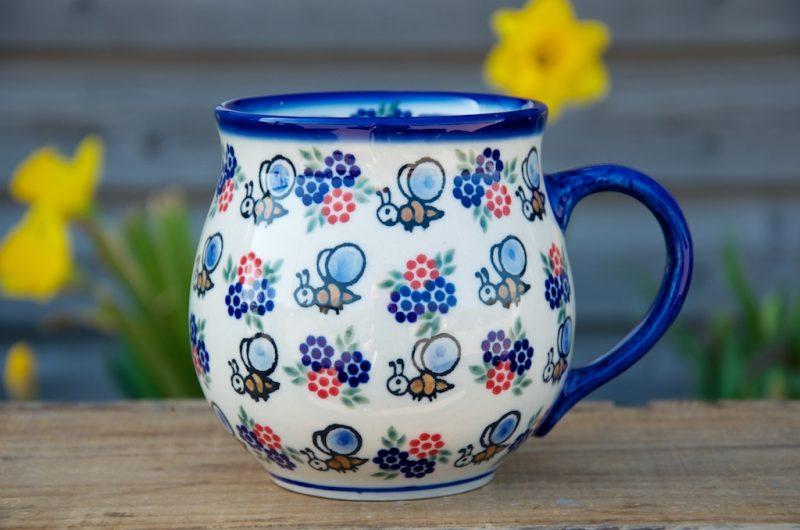 Polish Pottery Bee Large Round Mug