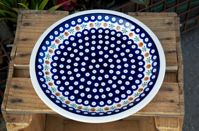 Polish Pottery Fern Spot Dinner Plate