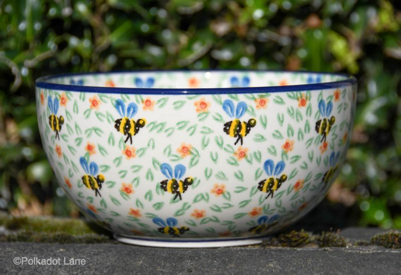 Bee Pattern Large Cereal by Ceramika Artystyczna