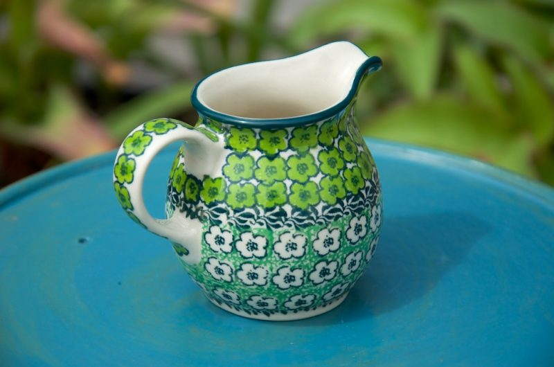 Polish Pottery Green Meadow Creamer
