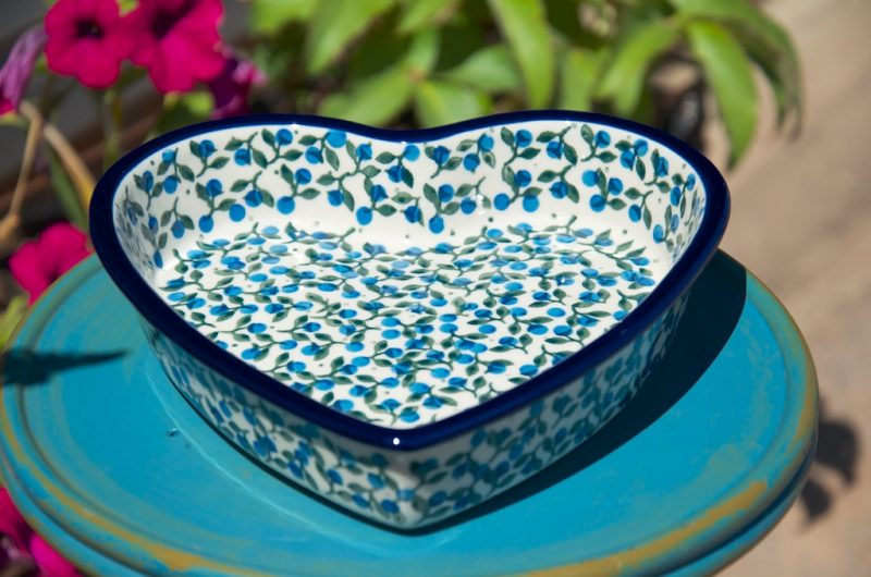 Heart Shaped Shallow Dishes