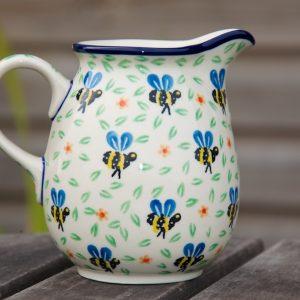 Polish Pottery Bee Pattern Small Jug
