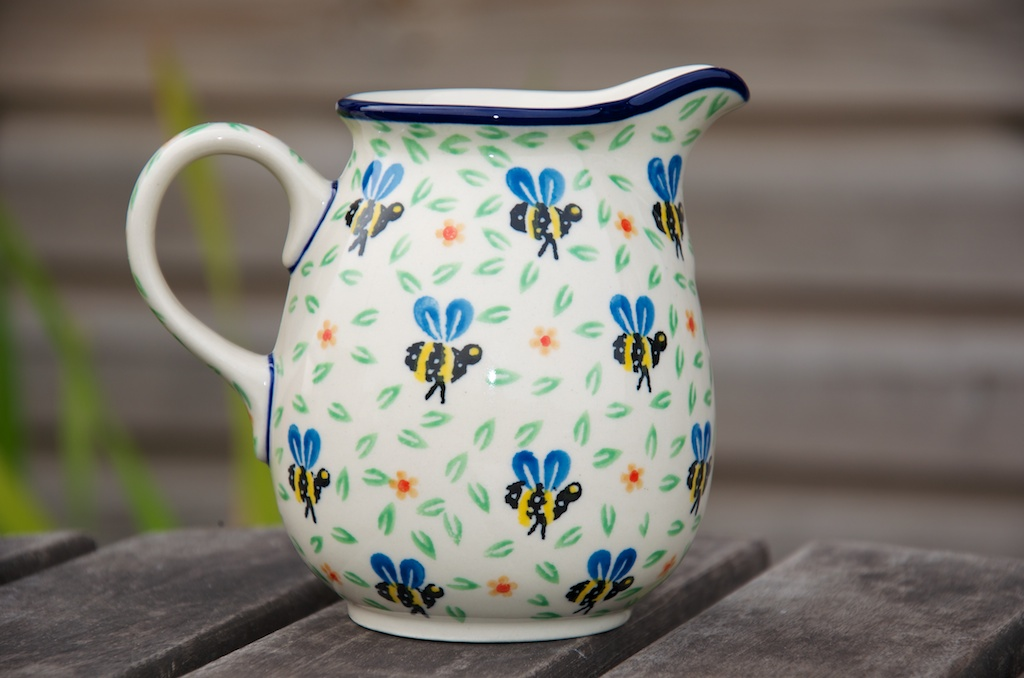 Polish Pottery Bee Pattern Small Jug