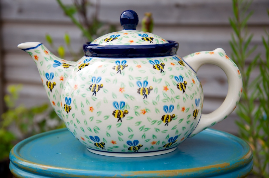 Polish Pottery Bee Teapot