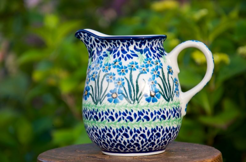 Polish Pottery Forget me not Small Jug