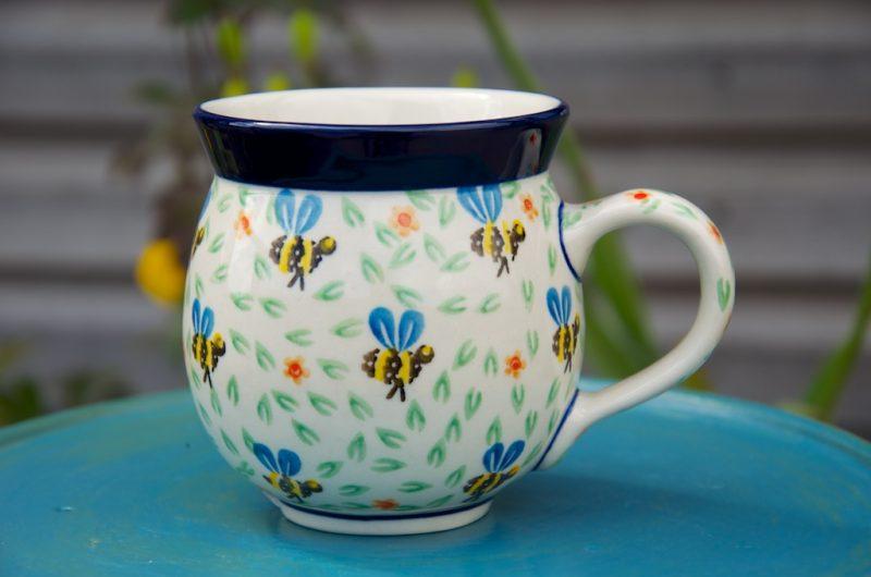 Polish Pottery Bee Round Mug