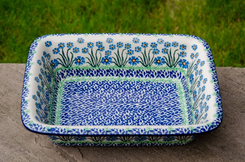 Forget Me Not Oven Dish With Rim Forget Me Not