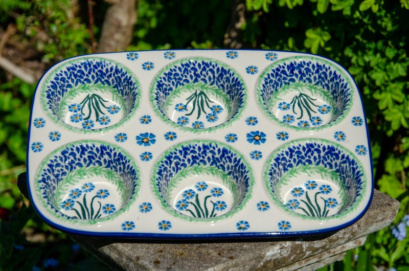 Forget Me Not Yorkshire Pudding Dish by Ceramika Artystyczna