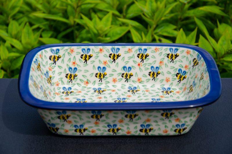 Bee Pie Dish by Ceramika Artystyczna Polish Pottery