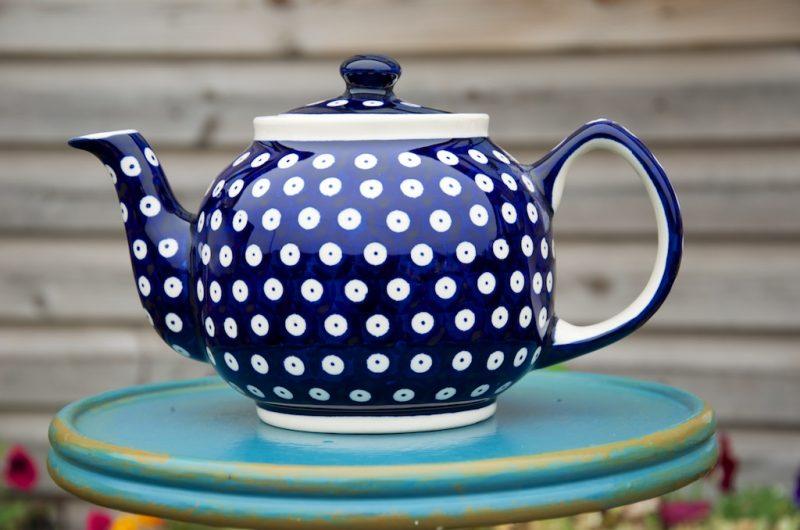 Polish Pottery Dark Spot Teapot